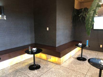 Smoking room inside Lotus Lounge