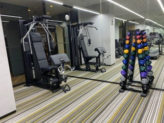 Weight area in the gym
