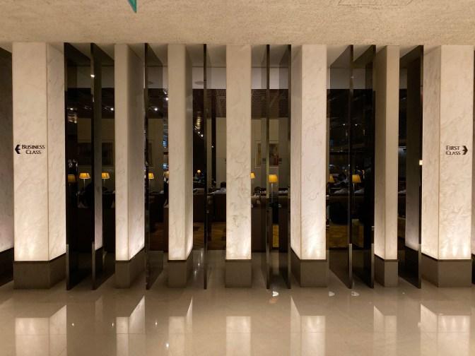 Entrance of SilverKris Lounge