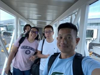 Boarding our flight to Jeju