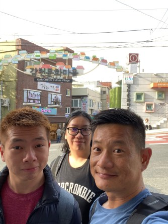 Wefie on the main street of Gamcheon Culture Village