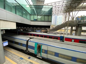 The train that took use from Busan to Seoul