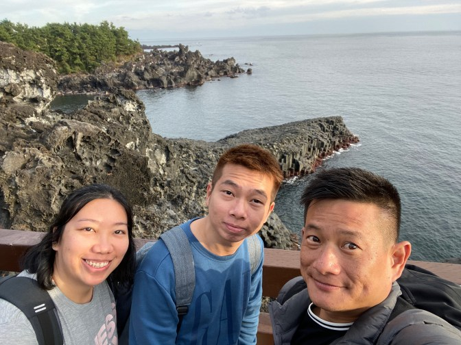 Another wefie with Jusangjeolli Cliff