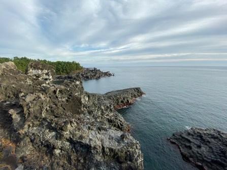 The dramatic coastline at Jusangjeolli Cliff