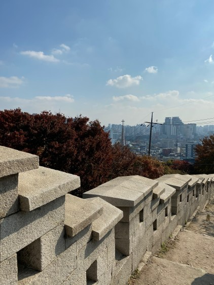 This section of the Seoul City Wall look very new