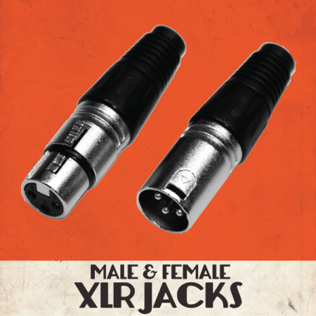 3-Pin XLR Jacks, Pair