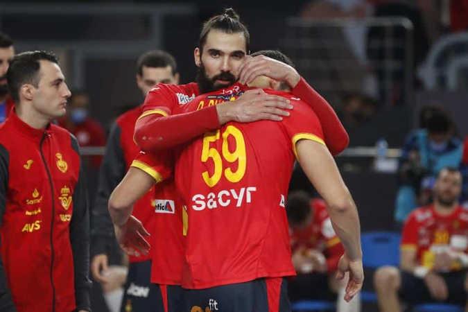 Handball WM 2021 Ägypten - Spanien vs. Dänemark - Jorge Maqueda - Copyright: © IHF / Egypt 2021