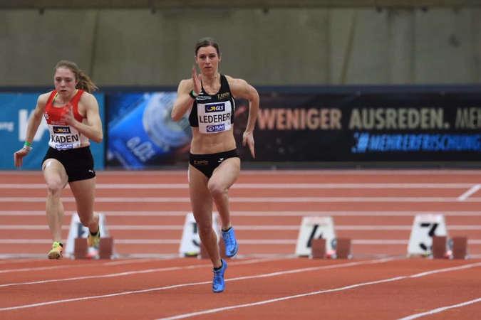 Amelie Sophie Lederer – Leichtathletik Hallen DM 2021 – Foto: Theo Kiefner