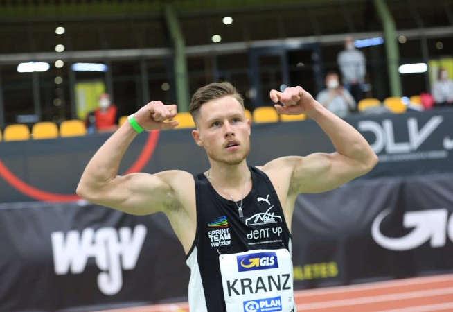 Kevin Kranz – Leichtathletik Hallen DM 2021 – Foto: Theo Kiefner