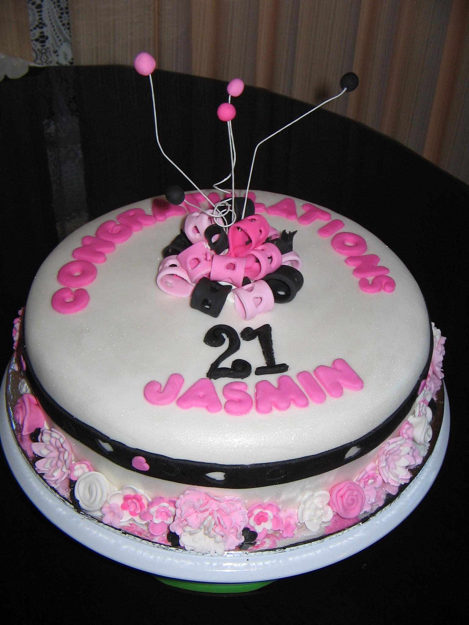 21st Birthday Cake For Jasmin