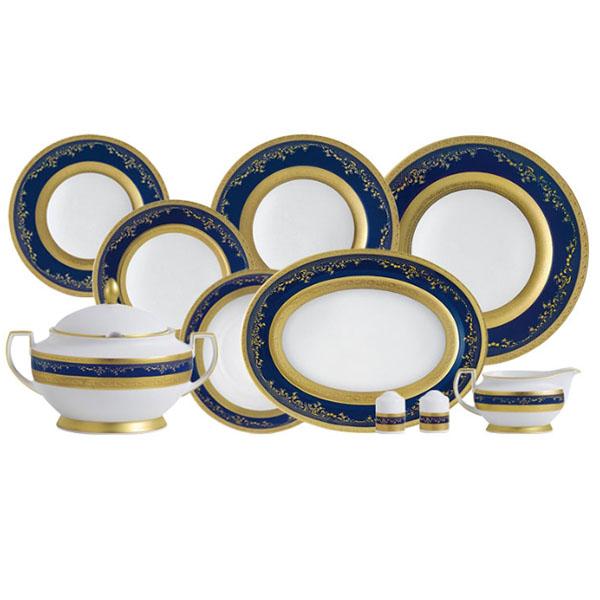 Фарфор Royal Gold - Набор для Ужина на 12 Персон Кобальт (43 Единицы) от Цептер
