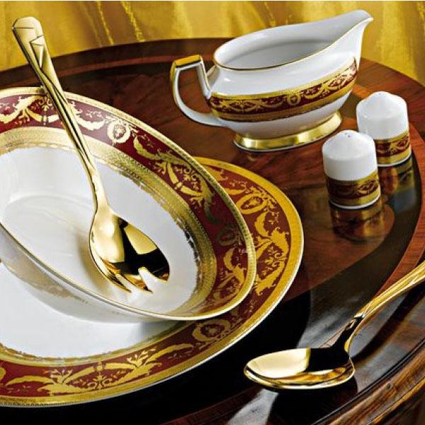 Фарфор Imperial Gold - Кофейный Набор 12 Персон Бордо (27 Единиц) от Цептер