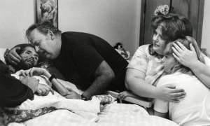 David Kirby on his deathbed, Ohio, 1990.