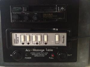 Acu-Massage ST Table control panel