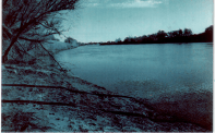 looking out to the Sacramento River. This Black and white was accidental yet still came out blue.