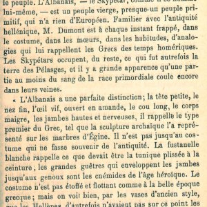 SHKRIMI FRANCEZ I 1872 : NË DAMARËT E SHQIPTARËVE RRJEDH GJAK PELLAZG. ORIGJINËN E FUSTANELLËS HELENE KËRKOJENI NË SHQIPËRI.
