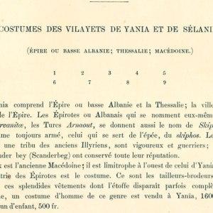 Albert Racinet (1888) : Epirotët – shqiptarë, arbëreshë, ilirë, pasardhës të Akilit, Pirros dhe Skënderbeut, prodhuesë dhe furnizuesë të kostumeve në të gjithë Greqinë