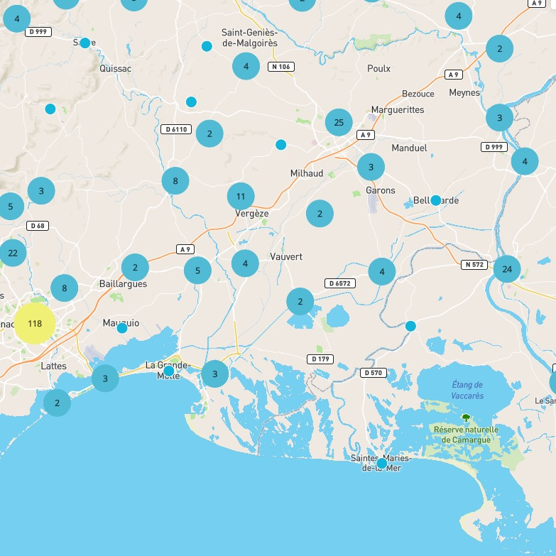 carte Water map