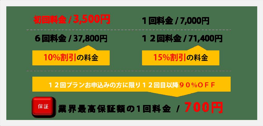 両わき脱毛料金説明初回3500円