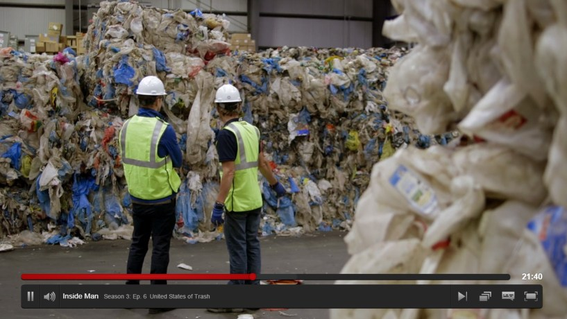 plastic bags with morgan spurlock standing in front