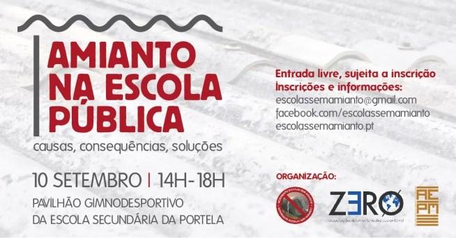 """Especialistas e deputados debatem """"Amianto na Escola Pública"""" em Loures"""
