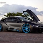 Matte Black Bmw I8 Looks Fantastic On Blue Hre Wheels