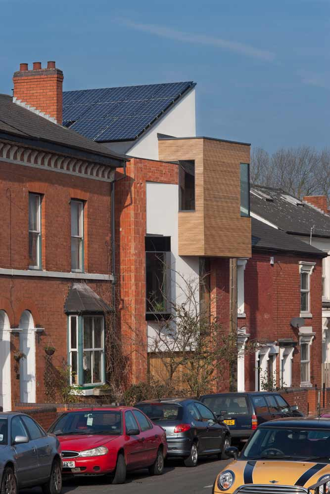 View of zero carbon house Birmingham on Tindal Street