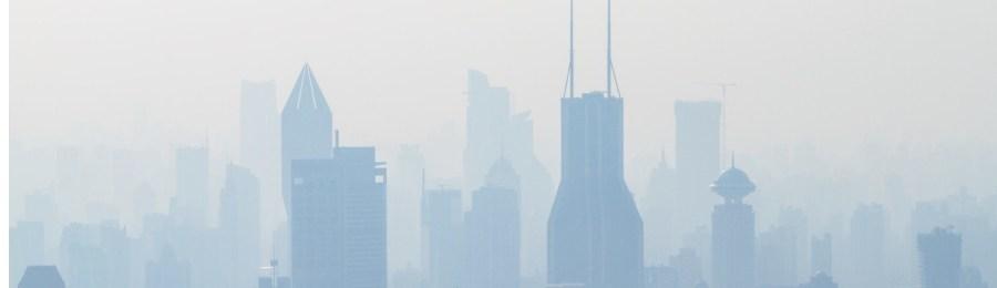 ville remplie de fumée