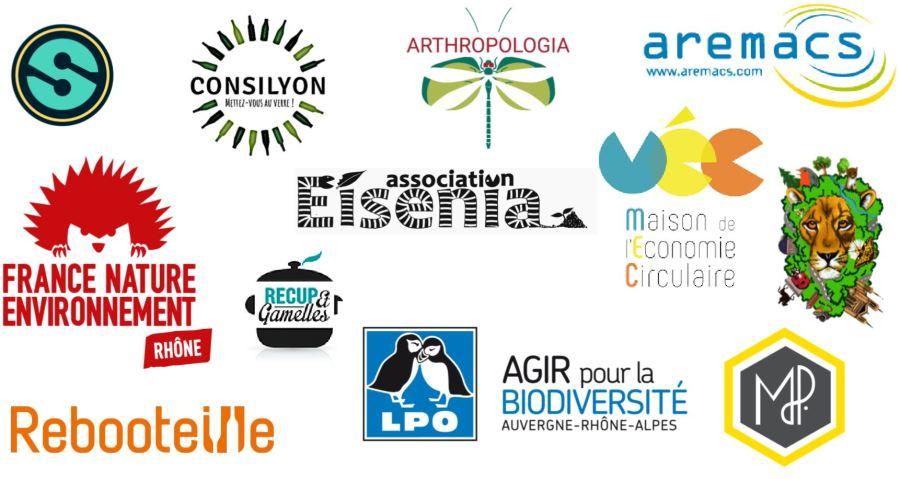 Logos des associations signataires du Communiqué de presse