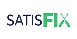 Logo de Satisfix avec des tournevis formant le X