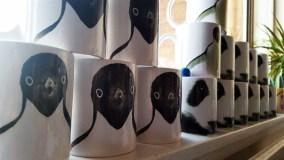 penguin and panda design mug