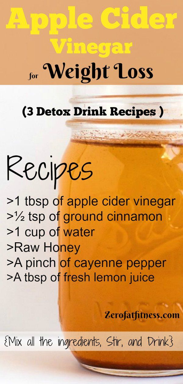 Apple Cider Vinegar for Weight Loss - 3 Detox Drink Recipes