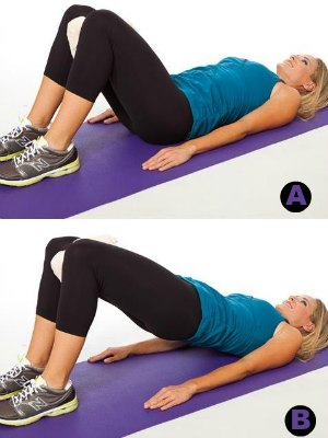 Towel Squeeze Bridge-7 Best Leg Exercises for Women at Home: Slim and Toned Legs