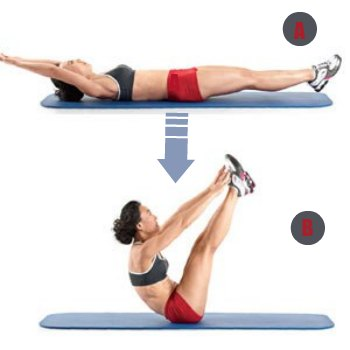 V Sit-Ups - 10 Best Belly Fat Burning Exercises for Flat Stomach