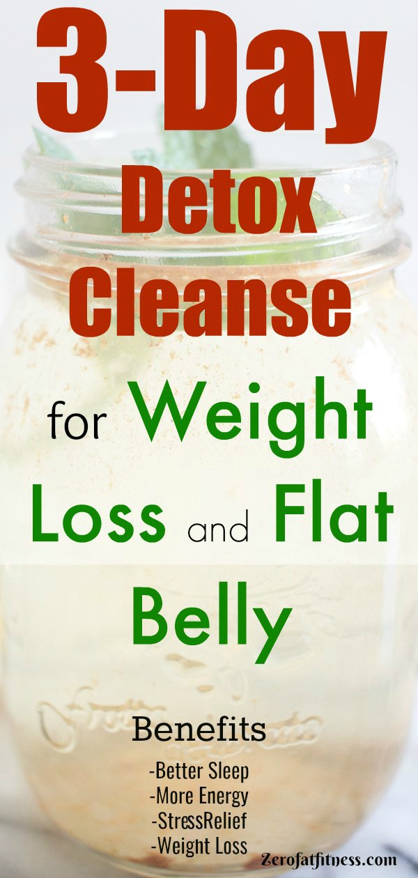 3-Day Detox Cleanse for Weight Loss and Flat Belly at Home