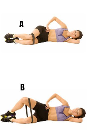 Clamshell exercises- 10 Best Resistance Band Exercises for Legs and Glutes