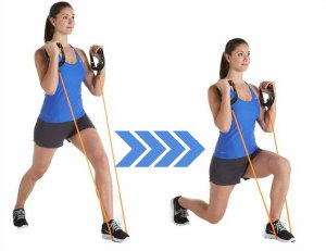 Resistance Band Lunges- 10 Best Resistance Band Exercises for Legs and Glutes