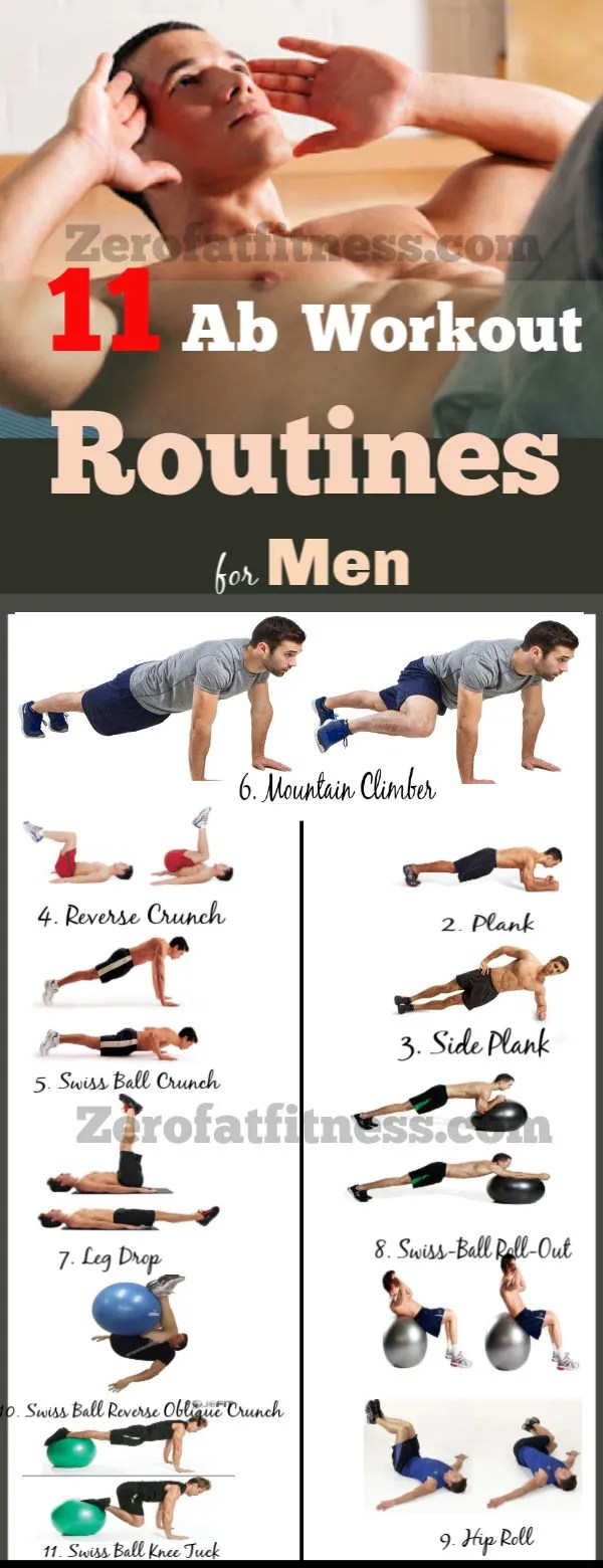 11 Most Effective Ab Workout Routines for Men at Home to Get Six Pack.
