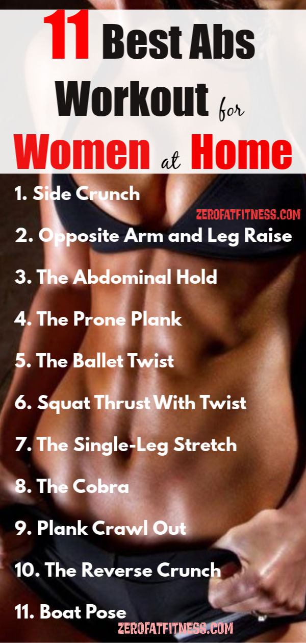 11 Best Abs Workout for Women at Home to a Get Flat Stomach and Six Pack Fast