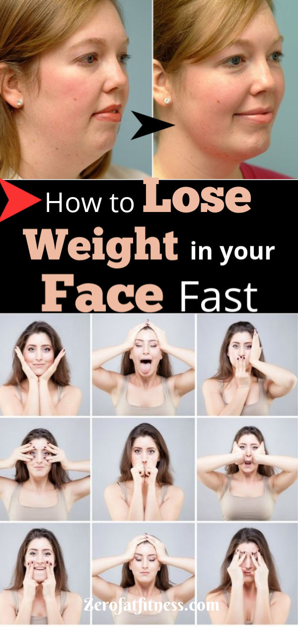 How to lose weight off your face and neck fast