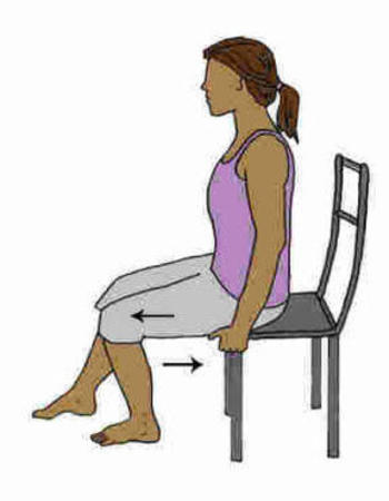 Heel Slides chair exercise for senior