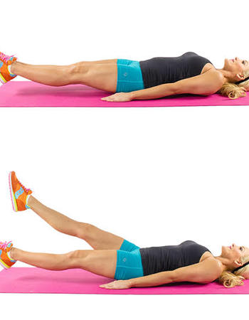 Flutter Kicks for Core Muscle Tightening