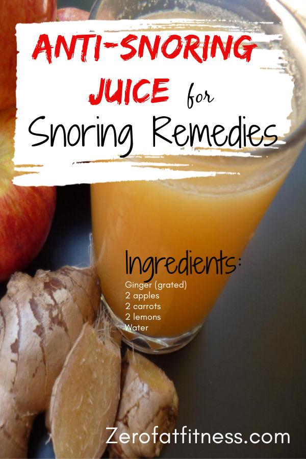 Anti-Snoring Juice for Snoring Remedies