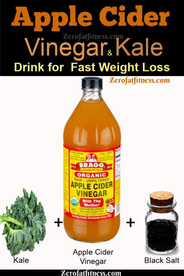 Apple Cider Vinegar and Kale Weight Loss Drink