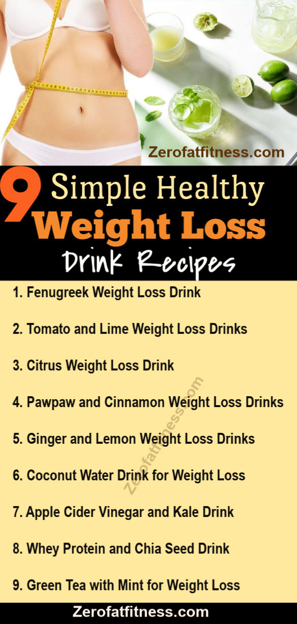 9 Weight Loss Drinks to Lose up to 10 pounds and Belly Fat Fast