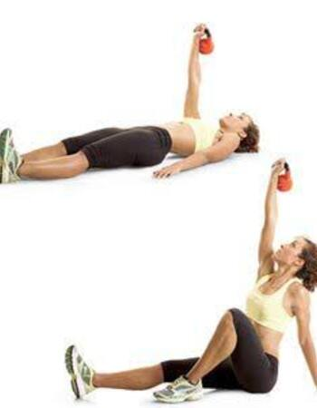 Kettlebell Half Get-Up for Weight Loss and Flat Belly