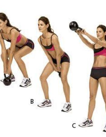 Kettlebell swing - kettlebell workouts for weight loss