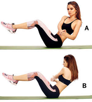 Russian Twist -11 Easy Ab Exercises to Tone Stomach in 2 Weeks at Home