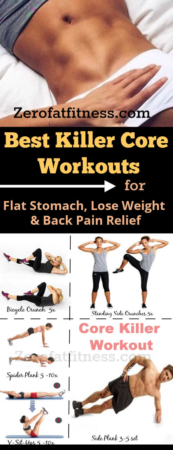 11 Best Core Workouts Routine for Beginners at Home- Get Flat Stomach, Lose Weight and Back Pain Relief