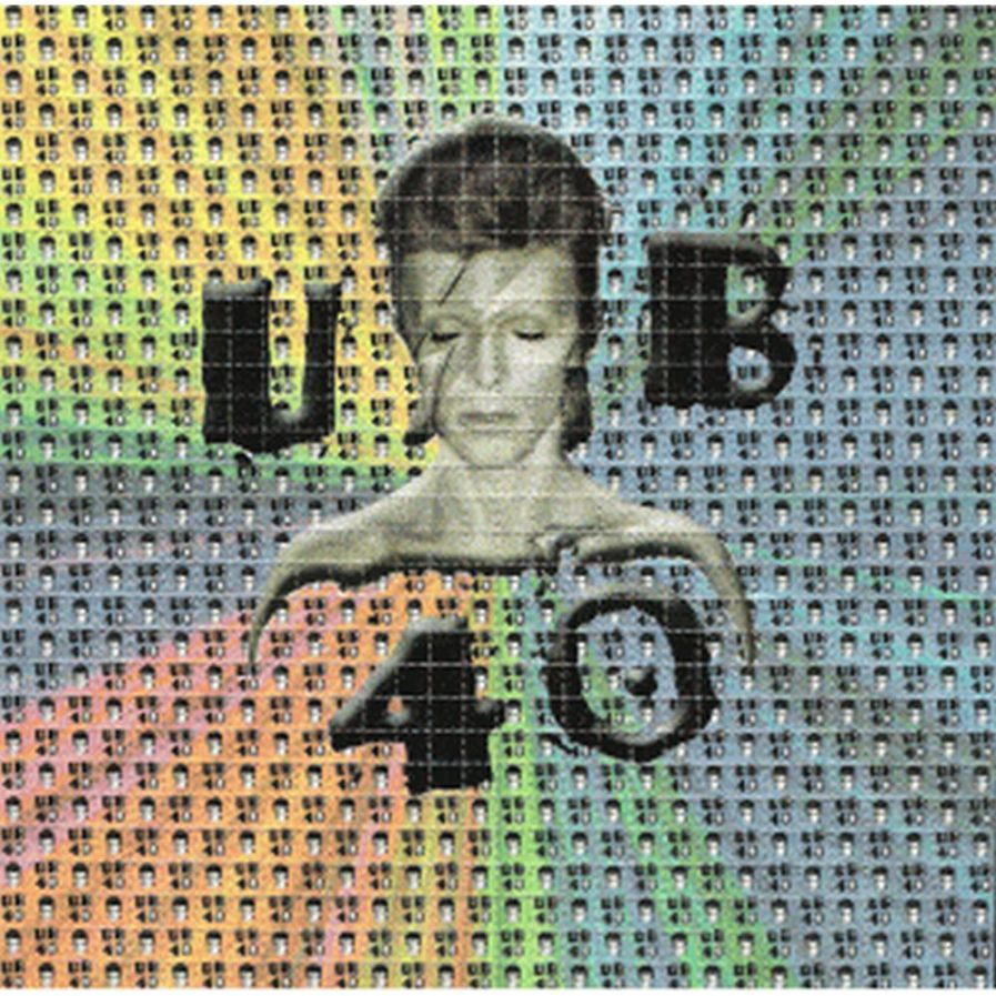 David Bowie / UB 40 Blotter Art